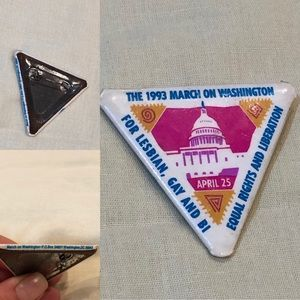 Vtg March On Washington pin